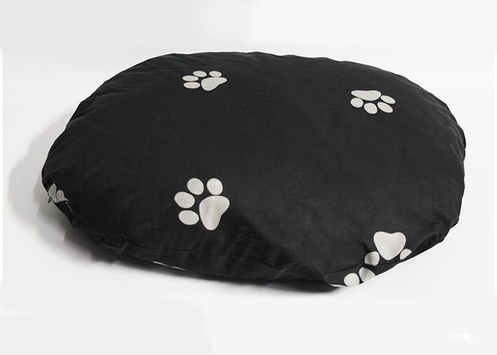 Hundekissen 85x75 cm grau mit hellgrauen Tatzen