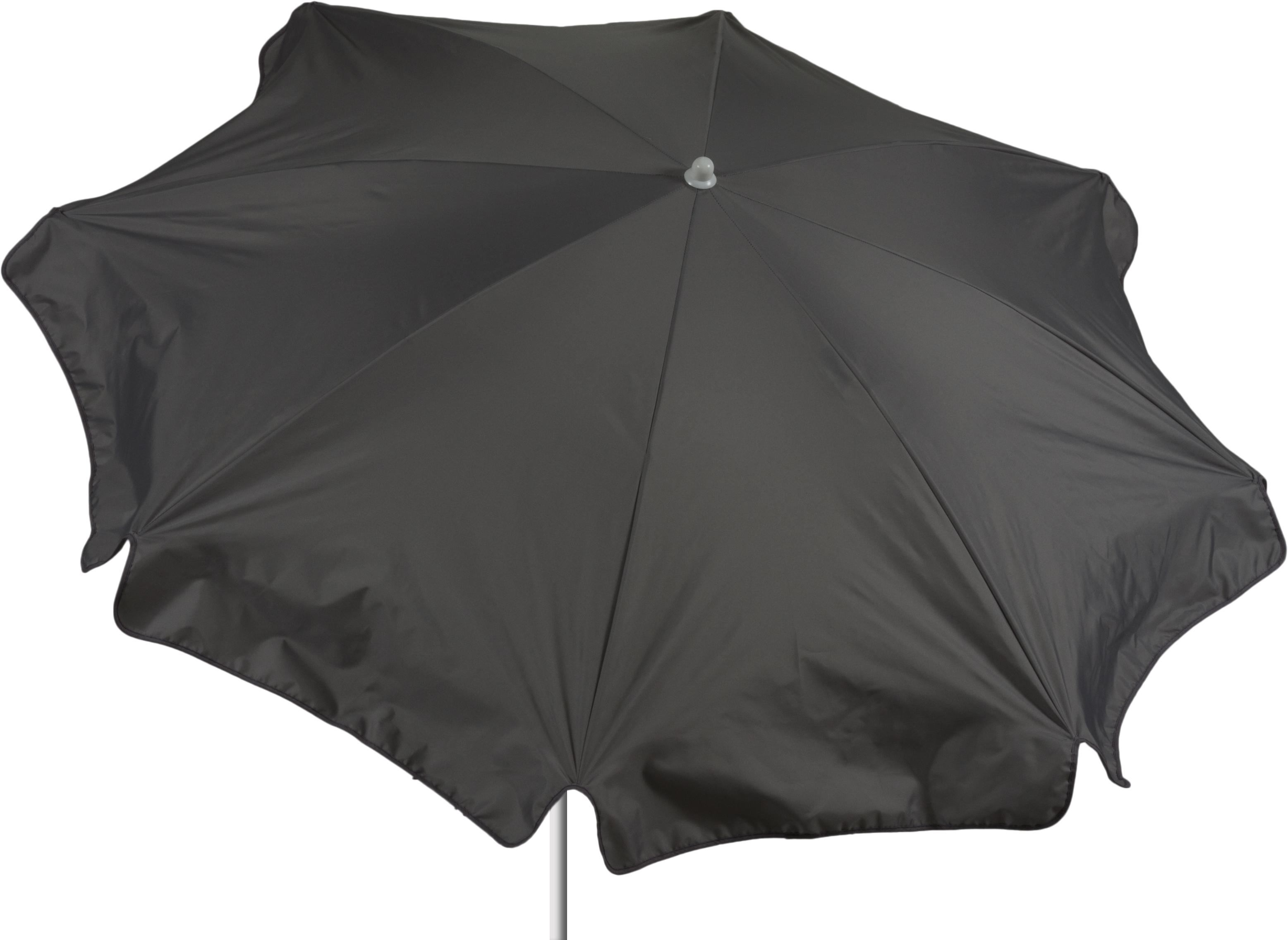 Sonnenschirm 180 cm Durchmesser in grau Bespannung 100% Polyester wasserabweisend 1