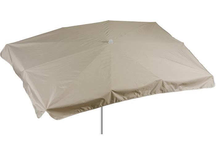 130 x 200 cm rechteckiger Sonnenschirm in beige Bespannung 100% Polyester wasserabweisend 2