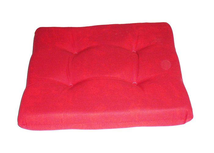 Sesselkissen aus Weichschaum in marmoriert rot