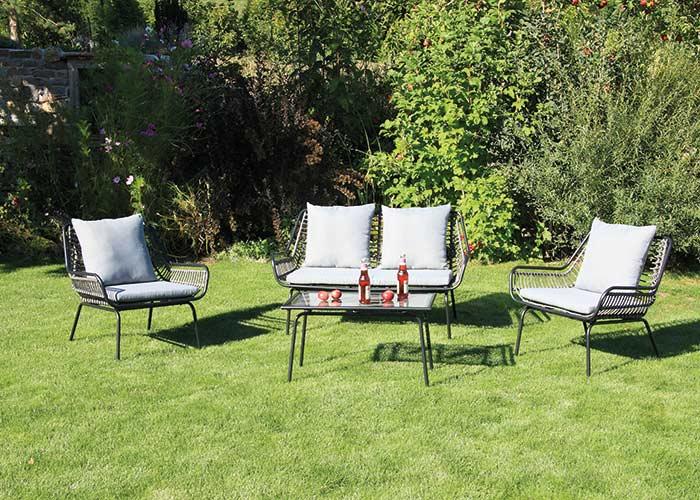 acamp boston Lounge Set 4tlg., Gestell aus Stahlrohr pulverbeschichtet,_x005F_x000D_ 37,0 kg brutto