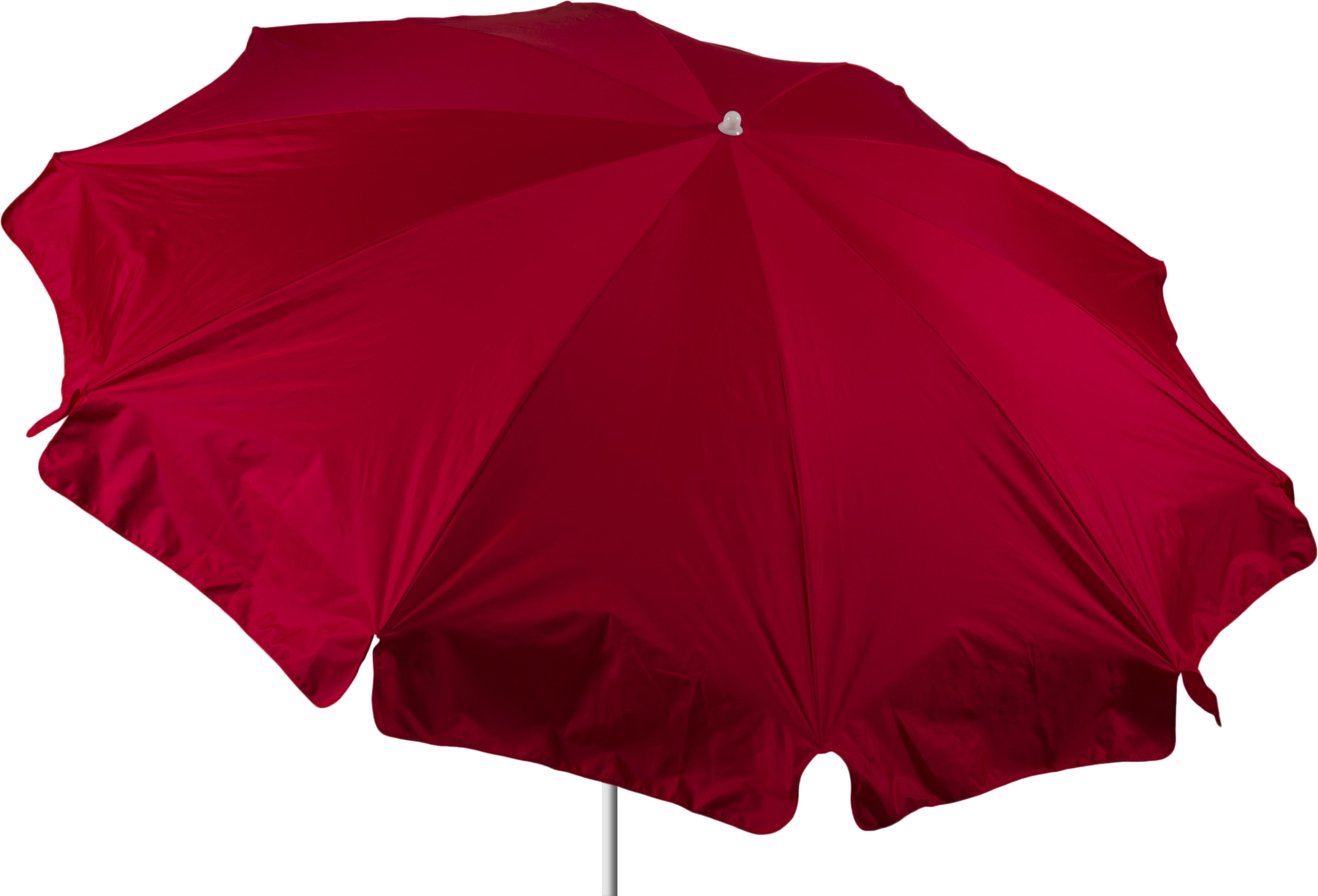 Terrassenschirm in rot mit 240 cm Durchmesser Bespannung 100% Polyester wasserabweisend 2