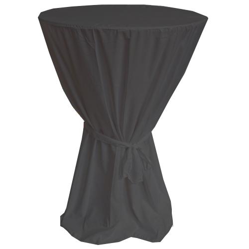 Schwarzer Stehtischhussen Stehtischüberwurf für Tische mit 90cm Durchmesser
