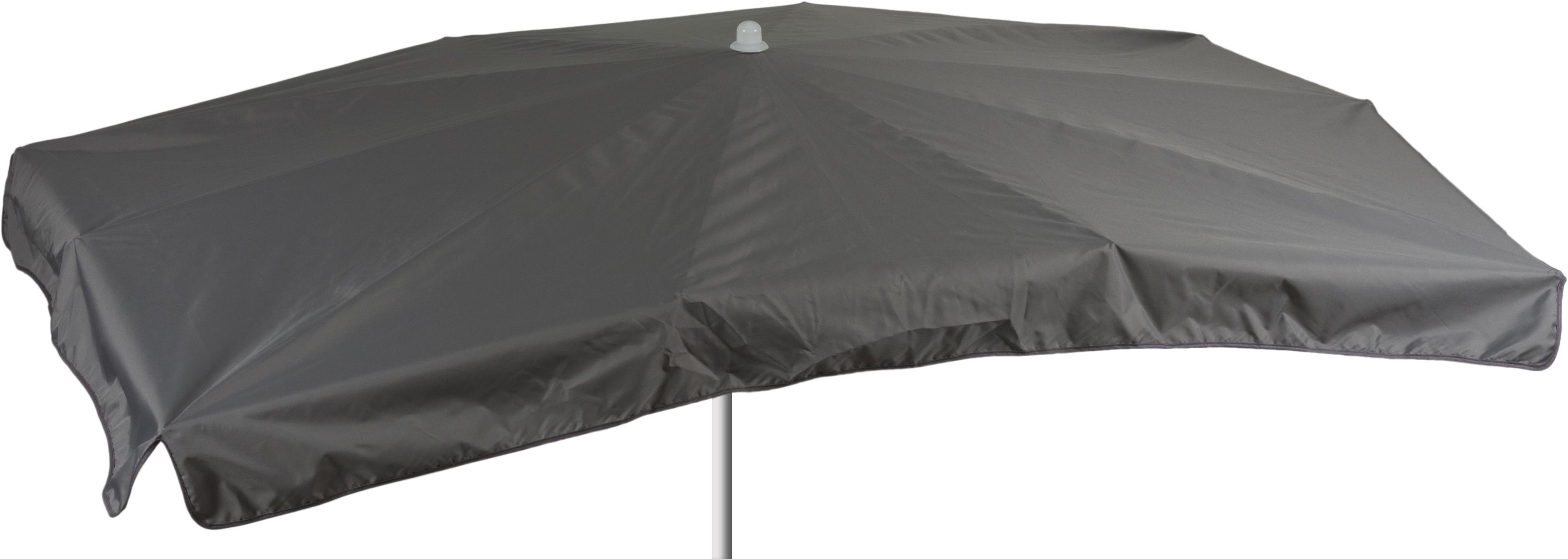 Grauer Sonnenschirm in rechteckig 130 x 200 cm Bespannung 100% Polyester wasserabweisend 2