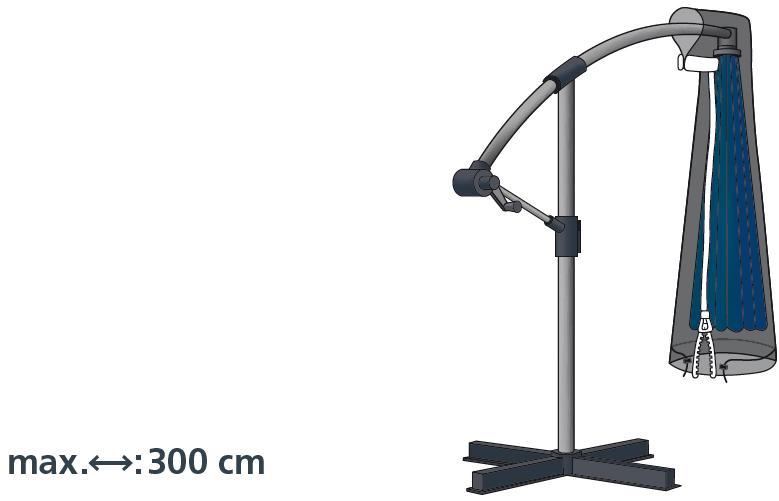 Schutzhülle Deluxe in anthrazit für Ampelschirme bis 300 cm von beo