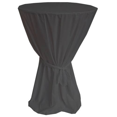 Husse für Stehtisch mit Schleife 701327 Durchmesser 70cm x Höhe 120cm in Schwarz