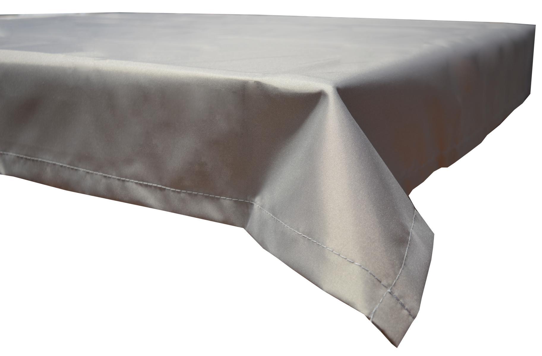 Wasserabweisende Tischdecke 100% Polyester in hellgrau 76x76 cm