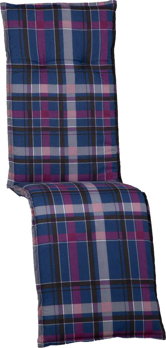 beo Gartenmöbel Auflage für Relaxstühle in karo blau violett schwarz M903