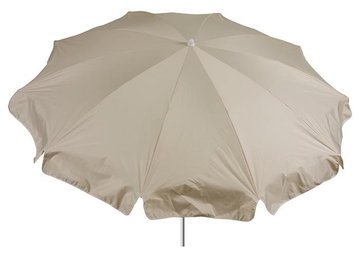 Runder Sonnenschirm 200 cm Durchmesser in beige Bespannung 100% Polyester wasserabweisend 2