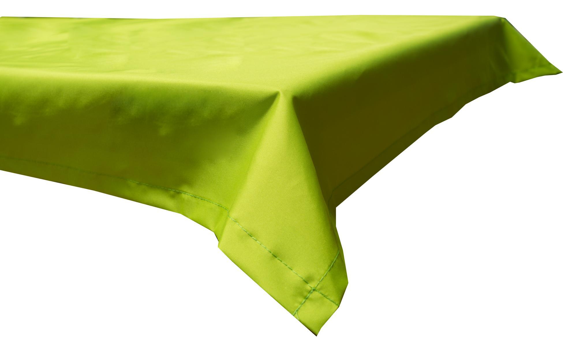 Wasserabweisende Tischdecke 100% Polyester in hellgrün 110x140 cm