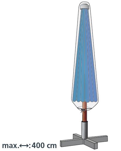 LLK Abdeckhülle für Schirm 200-400cm