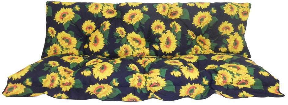 2-teilige Hollywoodschaukel Comfort Auflage von beo in Sonnenblumen Motiv