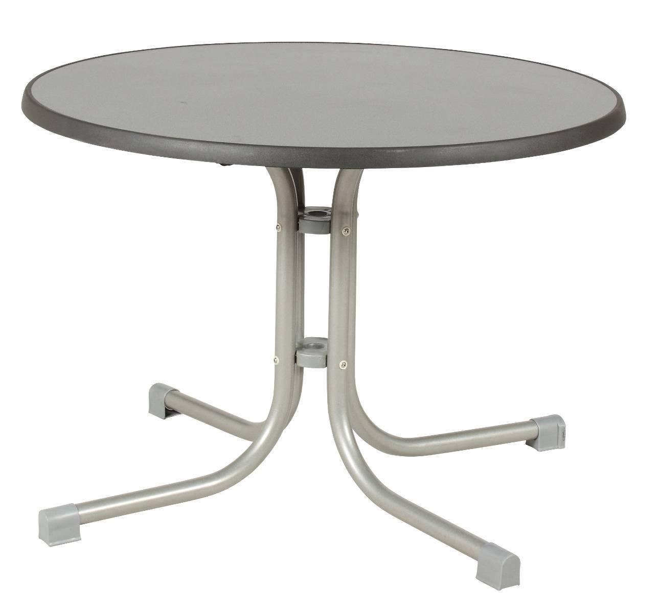 acamp 56671 Tisch Piazza 100 cm Durchmesser platin Gestell puntinella Tischplatte 72 cm hoch