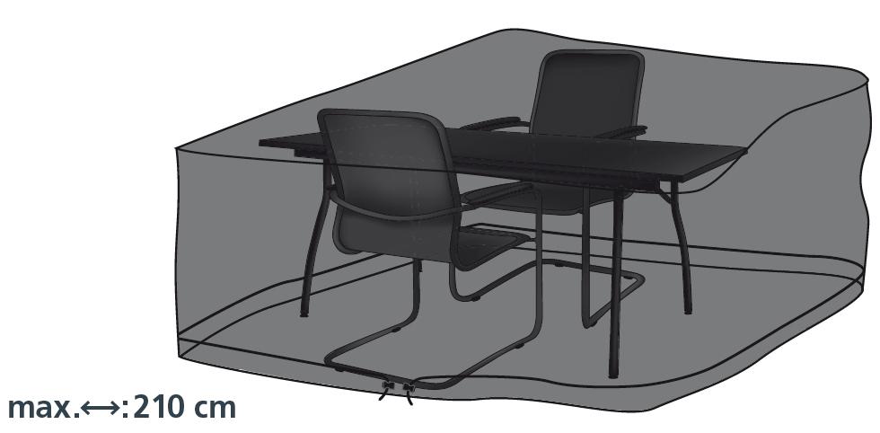 Schutzhülle Deluxe in anthrazit für rechteckige Sitzgruppen 210x160cm von beo