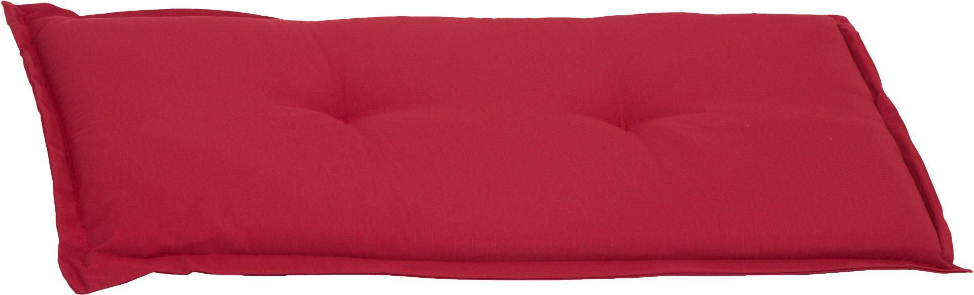 Bankauflage 2-Sitzer Sitzkissen ca. 100x45x6 cm rot meliert