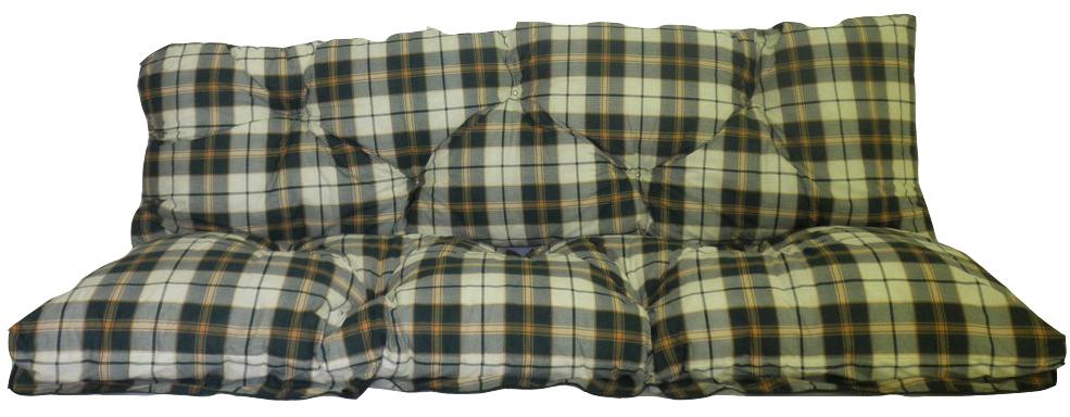 Hollywoodschaukel Comfort Auflage 2-teilig karo grün von beo