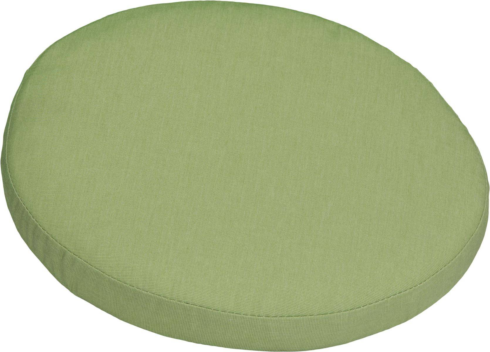 Polster für Balkonstühle rund apfelgrün Dralon Bezug 40 cm mit Reissverschluss