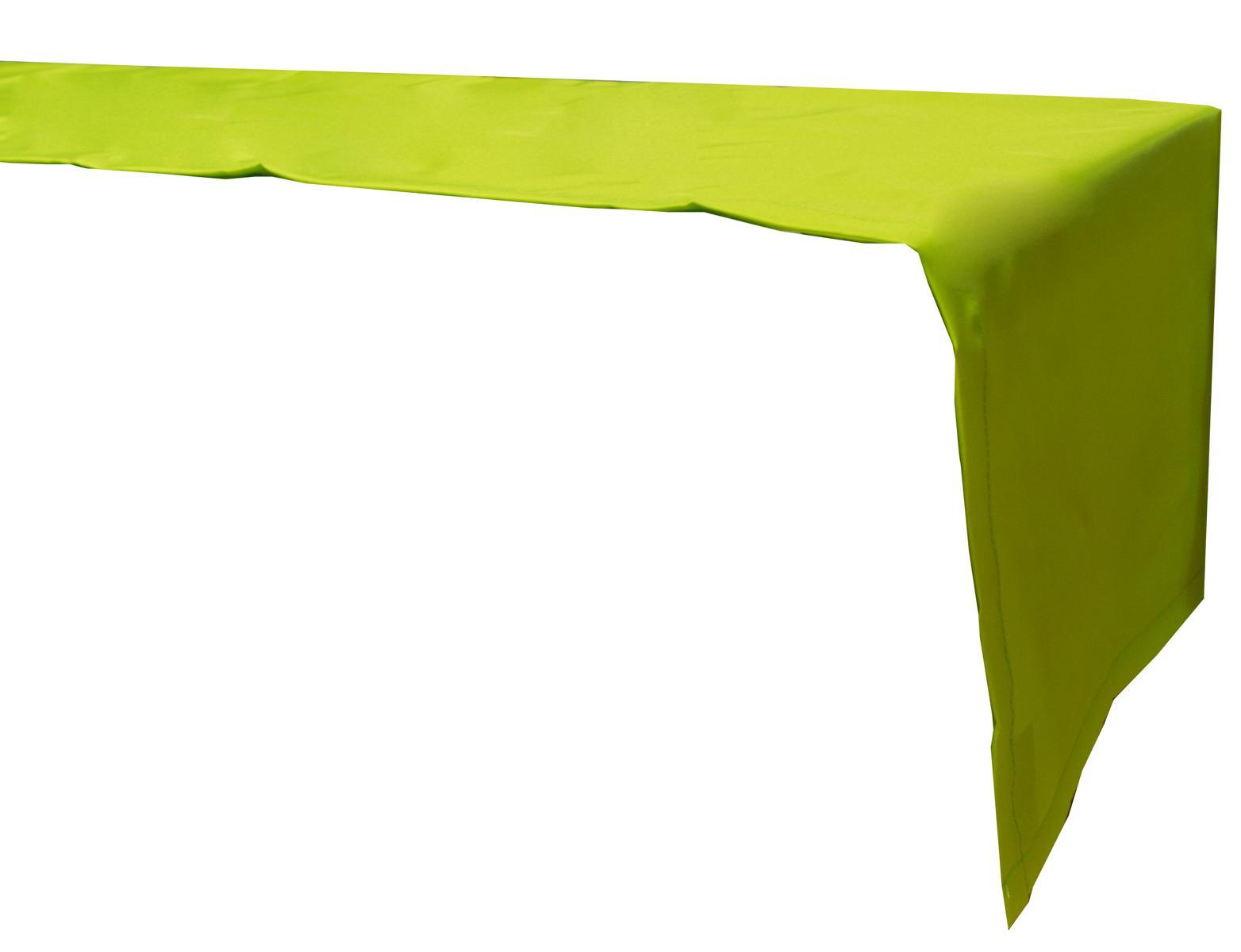 Tischläufer 120x45 cm wasserabweisend 100% Polyester in hellgrün